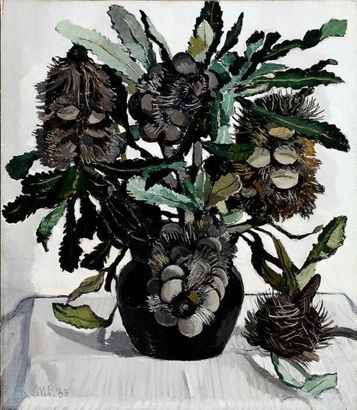 An image of Banksia cobs by Margaret Preston