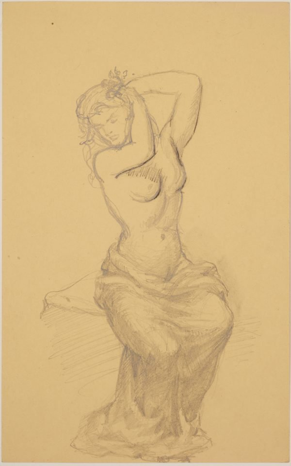 An image of Studies for 'Italy' (Study for draped female figure)