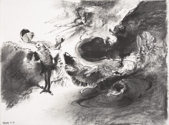 An image of Study for 'An autumn incident'