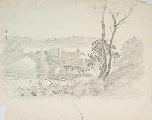 An image of House on the harbourside by Lloyd Rees