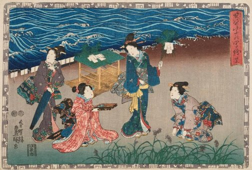 An image of Chapter 25 'Fireflies' by Utagawa Kunisada/Toyokuni III