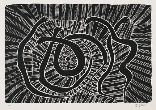 An image of Warnajiljikarraji (Snake story) by Jimmy Pike