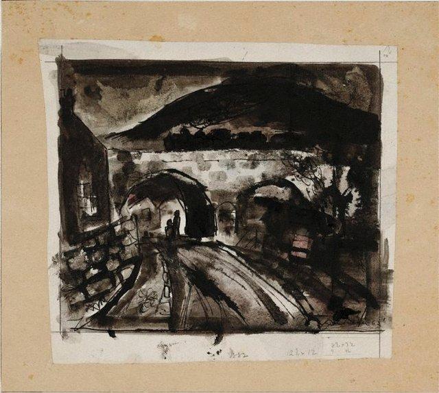 An image of Railway bridge, Pontypool (Railway viaduct, Wales)