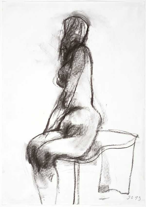 An image of Seated female nude, from side
