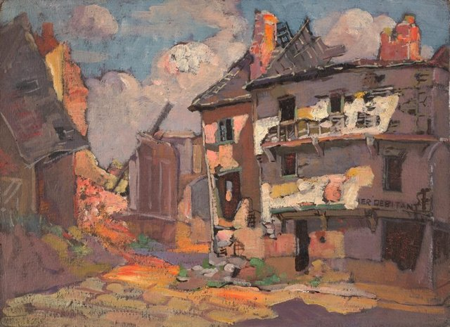 (Ruined buildings), (circa 1919) by Evelyn Chapman