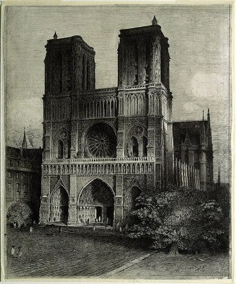 Notre Dame, Paris, (1928) by Lloyd Rees