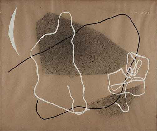 An image of Abstract drawing (Compositional schemes) by Grace Crowley
