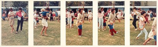 An image of Untitled (Women and children dancing at picnic. Yarraville sugar festival) by Merryle A Johnson