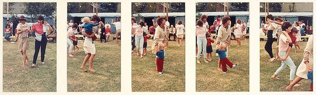 An image of Untitled (Women and children dancing at picnic. Yarraville sugar festival)