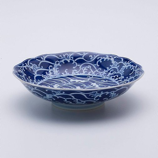 An image of Dish with sea and rock motifs by