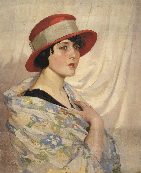 An image of (Girl in red hat) by Evelyn Chapman