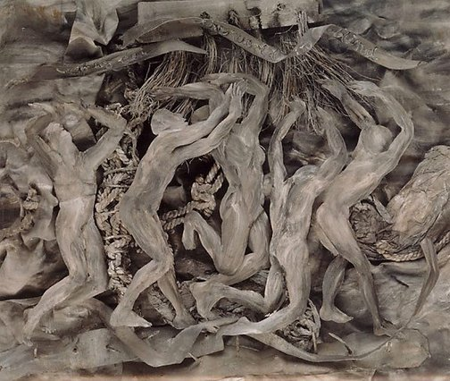 An image of Purgatory, Canto XVI: The wrathful by Fiona Hall