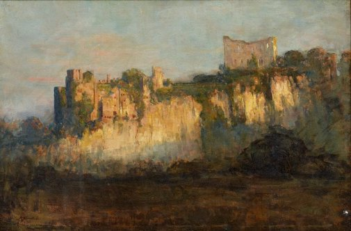 An image of Chepstow Castle by Arthur Streeton