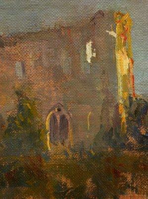Alternate image of Chepstow Castle by Arthur Streeton