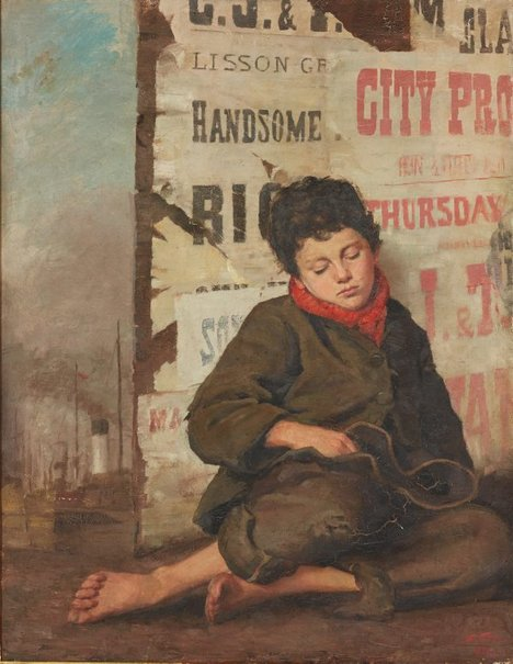 An image of Weary by Florence Fuller