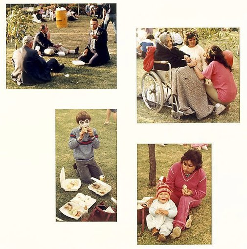 An image of Untitled (Four views of picnic: Yarraville sugar festival) by Merryle A Johnson