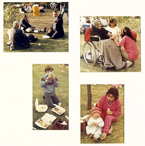 An image of Untitled (Four views of picnic: Yarraville sugar festival)