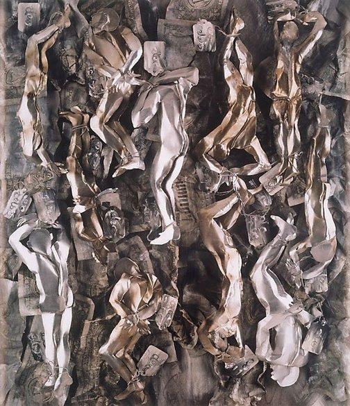 An image of Purgatory, Canto XX: The avaricious by Fiona Hall