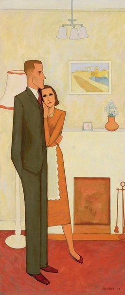 An image of The new house by John Brack