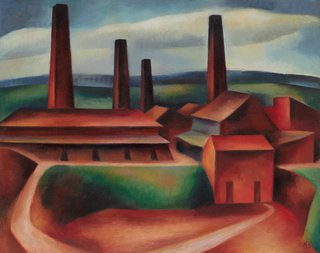 AGNSW collection Nancy Borlase Old brick works, Ryde II 1949