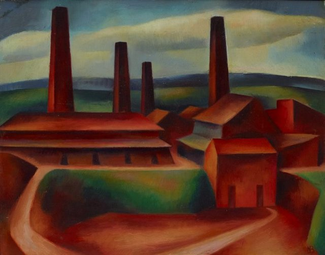 Old brick works, Ryde II, (1949) by Nancy Borlase
