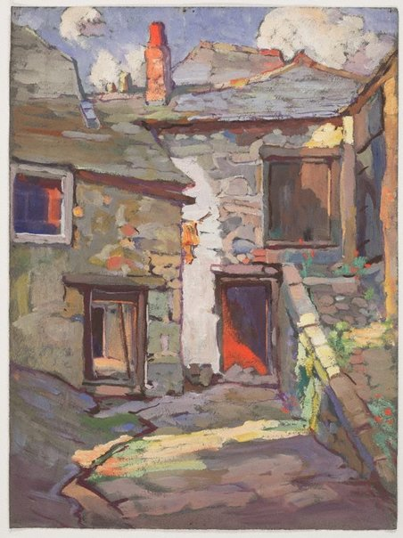 An image of (Stone houses, St. Ives, Cornwall) by Evelyn Chapman