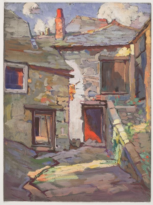 An image of (Stone houses, St. Ives, Cornwall)