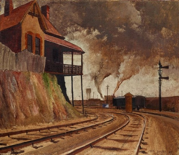 AGNSW collection Jeffrey Smart Keswick siding 1945