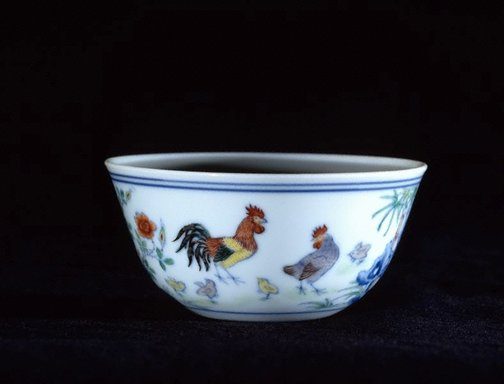 An image of Wine 'chicken' cup by Jingdezhen ware
