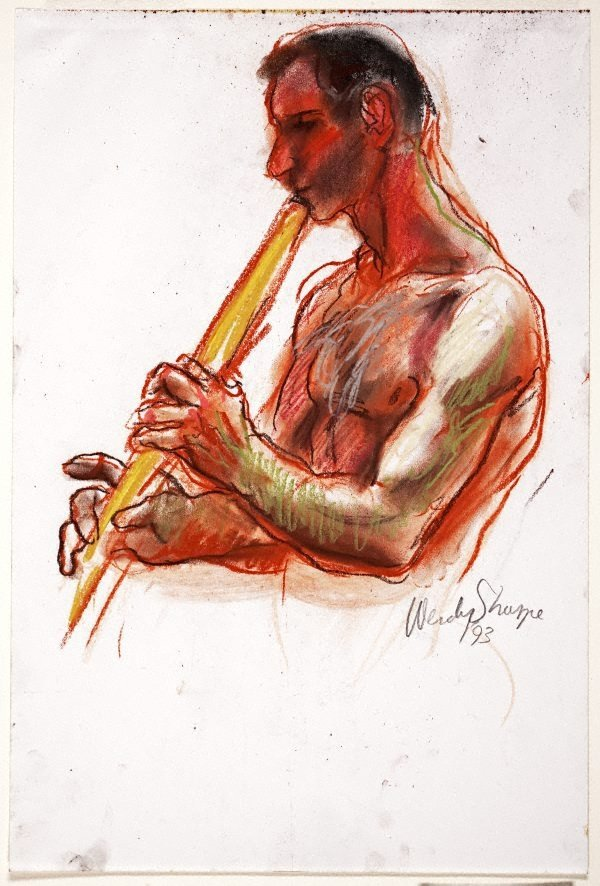 An image of (Man playing flute)