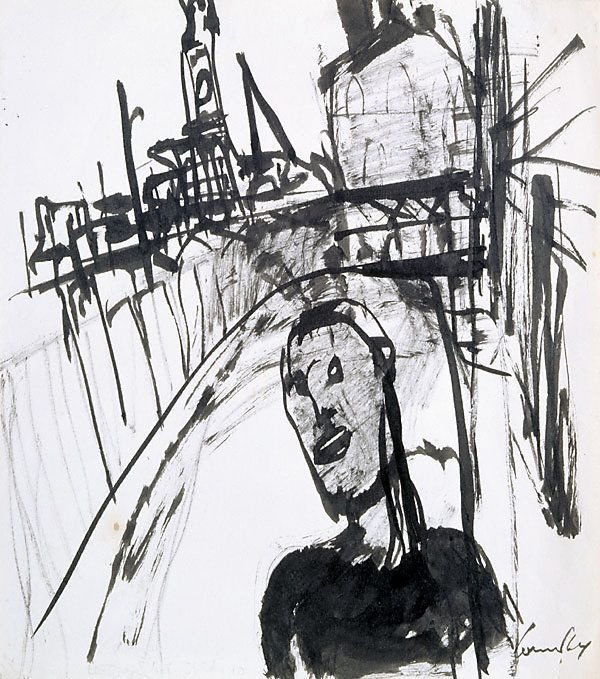 An image of Haymarket drawing (man near Central Station)