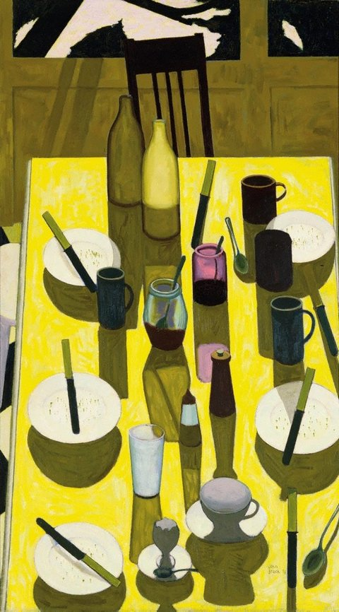 The breakfast table, (1958) by John Brack