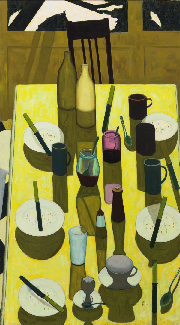 AGNSW collection John Brack The breakfast table (1958) 193.2013
