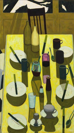 AGNSW collection John Brack The breakfast table 1958