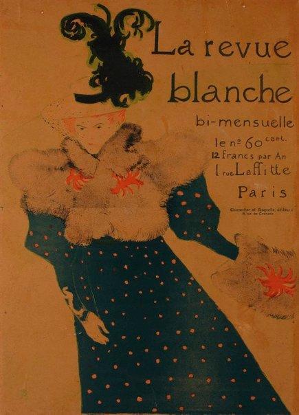 An image of La Revue Blanche by Henri de Toulouse-Lautrec