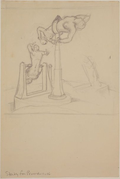 An image of Studies for 'Primavera' (Study for figures) by James Gleeson