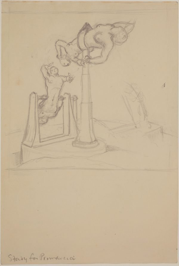 An image of Studies for 'Primavera' (Study for figures)