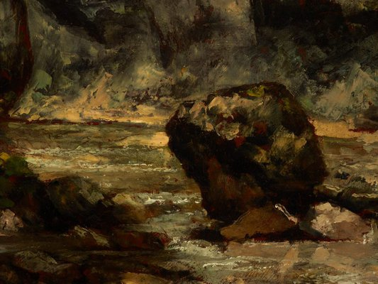 Alternate image of Landscape with stag by Gustave Courbet