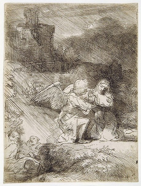 An image of The Agony in the Garden by Rembrandt Harmensz. van Rijn