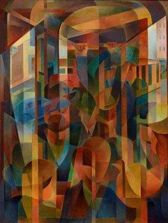 Tram kaleidoscope, 1948 by Frank Hinder
