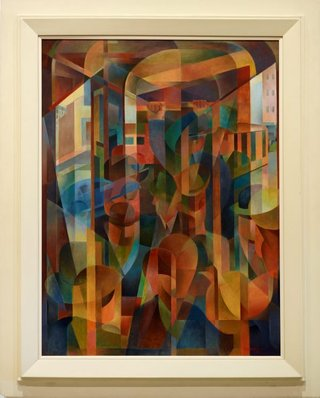 AGNSW collection Frank Hinder Tram kaleidoscope (1948) 195.2013