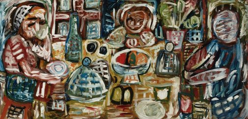 An image of (Family at table) by Tony Tuckson