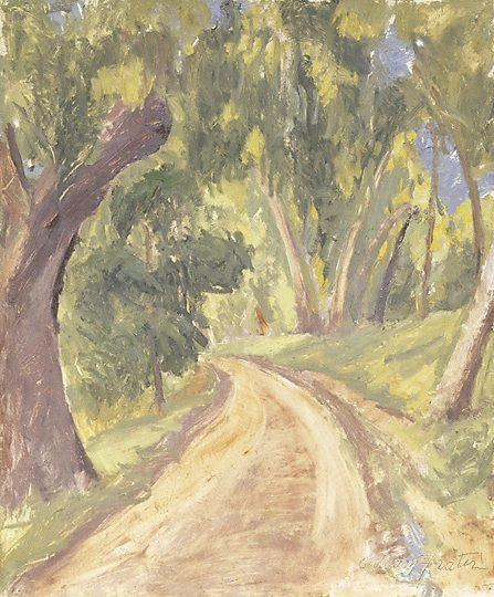 An image of Bush road near Anglesea by William Frater