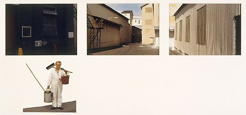 An image of Untitled (3 photographs of factory and passageway. Yarraville sugar refinery) by Merryle A Johnson