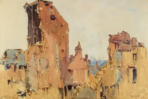 An image of Ruins, Peronne by Arthur Streeton