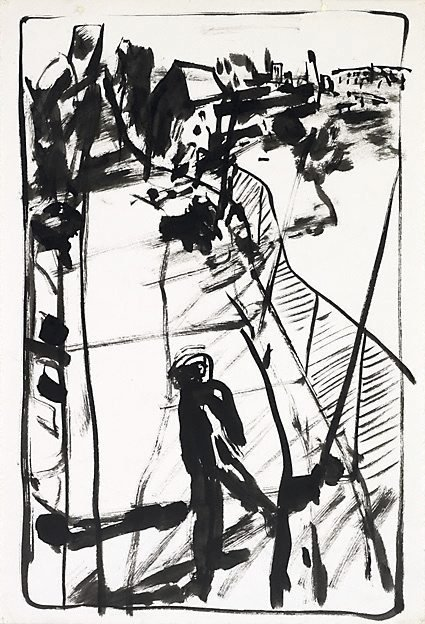 An image of Study for lithograph '3pm Summer figure'