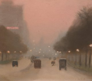 Evening, St Kilda Road, (circa 1930) by Clarice Beckett