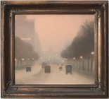 Alternate image of Evening, St Kilda Road by Clarice Beckett