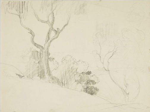 An image of Hillside view by Lloyd Rees