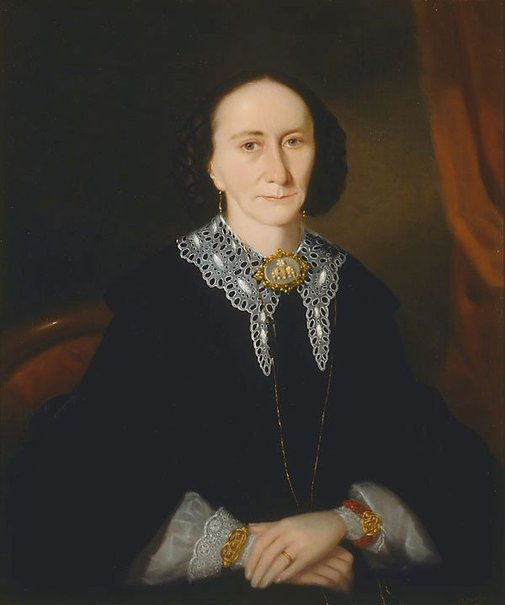 An image of Portrait of a woman (Elizabeth Collins) by Joseph Backler
